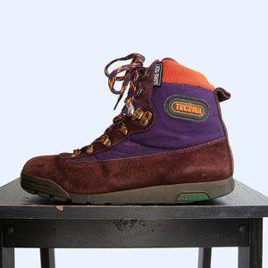 90s Tecnica Purple Suede Hiking Boots US 7.5 / EU